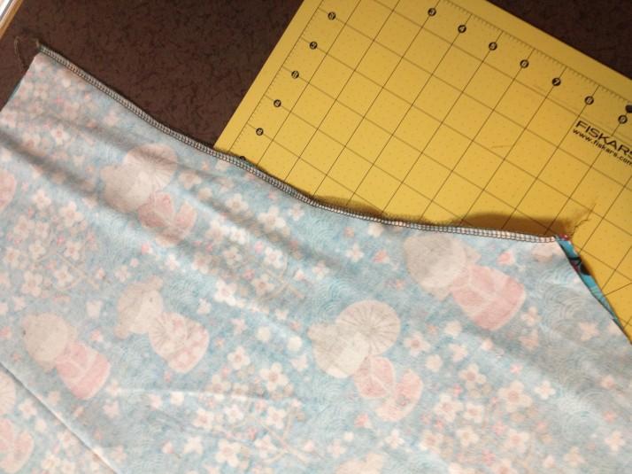 Sew the crotch area